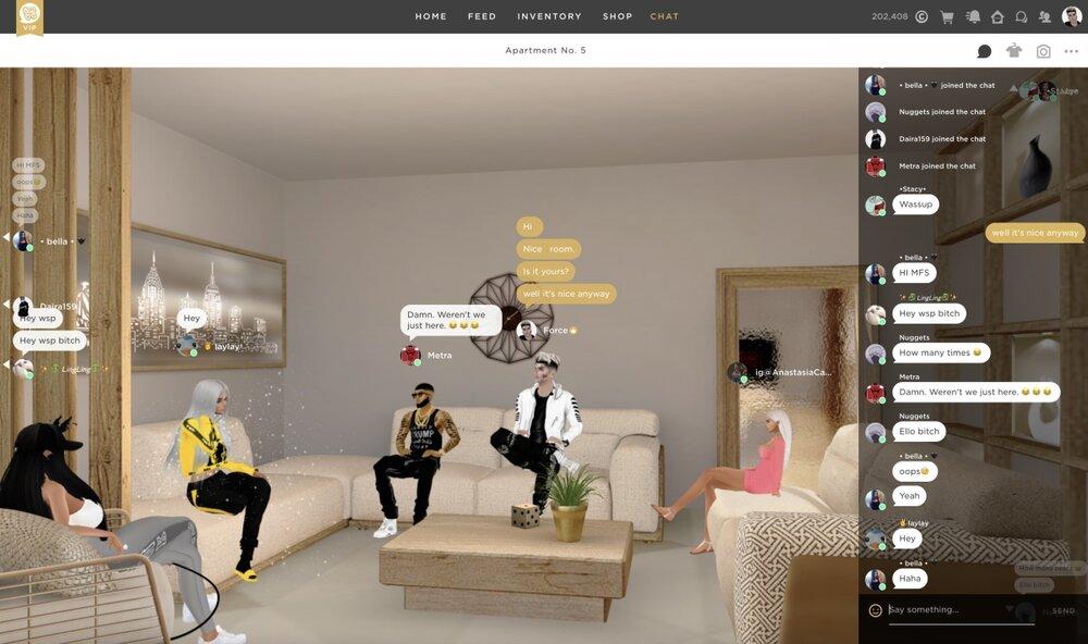 3d chat rooms like imvu
